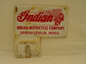 Vintage Indian Motocycle Co Springfield MA Motorcycle Bike License Plate Topper