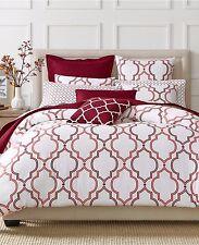 Charter Club Bedding Damask Designs Euro Pillow Sham Geo Garnet Red D5472