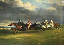 The Epsom Derby 1821 by Theodore Gericault Old Masters 13x18  Art Print