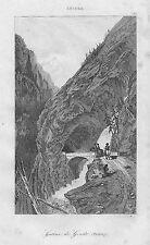 Galerie de Gondo impazziti Simplon pass Svizzera 1838 Simplon Suisse