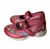 Minnie Mouse Sneakers Girl's Toddler Size 5 Pink Glitter Shoes Mary Jane