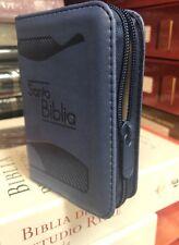 Mini Bíblia bolsillo Reina Valera Azul Con Cierre 1960 con lupa