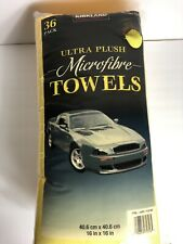 Kirkland Signature Ultra Plush Microfibre Towels Auto Home 36 Microfiber Pack