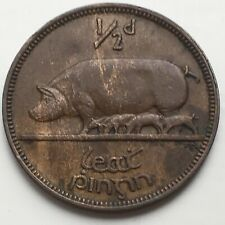 More details for ireland 1/2 pingin 1935 bronze coin (high grade) km# 2