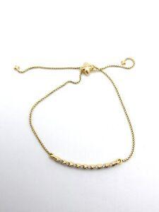 David Yurman Paveflex Diamond Adjustable Bracelet 18k Yellow Gold