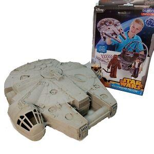 Star Wars MILLENNIUM FALCON Pop Up Action Figure Carrying Case Han Solo w/ bonus