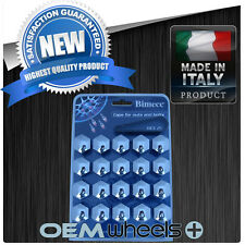 (20) NEW 21MM HEX CHROME CAP COVER FASTENER SHIELD LUG BOLT NUT WHEELS RIM ITALY