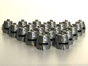 LEGO ®  20 x Ritterhelm in Flat Silver mit Augenschlitz , NEUWARE