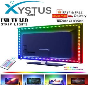 TV Led Lights USB TV Backlight Strip 5050 RGB Lighting Strips + Remote Control