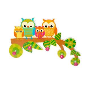"Hess 30316 Children's Wardrobe "" Owl "" 5 Hook 39 CM Erzgebirge Wood New! #"