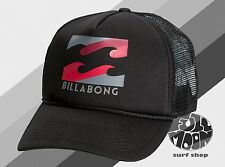 New Billabong Podium Mens Gray Black Trucker Snapback Cap Hat