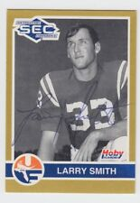 1991 HOBY LARRY SMITH AUTO AUTOGRAPH SIGNED TWICE CARD #90 JSA D 2008