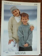 Legend Double Knitting Patterns Sweater Pullover Sirdar #4188