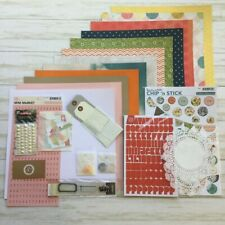 Studio Calico Collection Lot 12 Sheets October Afternoon Chipboard Basic Grey