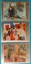 Russia (USSR) -1978 MNH 3 stamps. Art.K.Petrov-Vodkin-famous russian artist