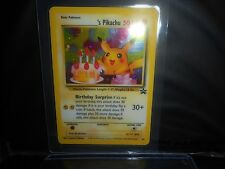 Pokemon HAPPY BIRTHDAY PIKACHU ULTRA PROMO HOLOFOIL ! 1998 LAMINATED!! BID