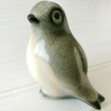 Vintage Howard Pierce Porcelain Bird Figurine Gray Biege Mid Century Modern MCM