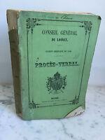 Consejo General Minutos Orleans Elija de Pagnerre 1856