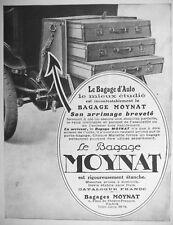 PUBLICITÉ DE PRESSE 1922 MOYNAT LE BAGAGE D'AUTO SON ARRIMAGE BREVETÉ