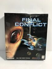 Final Conflict Real-Time Combat Strategy Game PC Windows CD-Rom Galaxy Ships New