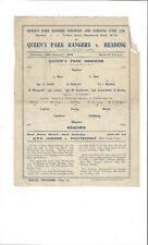 QPR v Reading League South Football Programme 1943/44