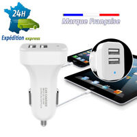 chargeur tel voiture Tablette usb allume cigare double cable iphone samsung ..