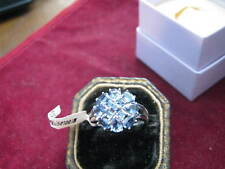 New w/ Tags 10K White Gold IOLITE Ring SQUARE, ROUND, OVAL & PEAR Cuts! Sz 8 WOW