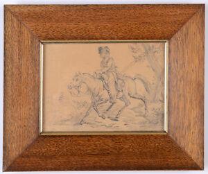 "Horace Vernet (1789-1863) ""Napoleonic Cavalryman"", drawing, 1810/15"