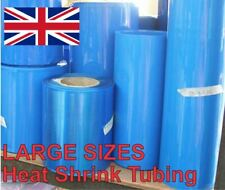 Heat Shrink Tube Tubing Wrap Sleeve Blue 180mm x 1 metre 18650 Battery UK Stock