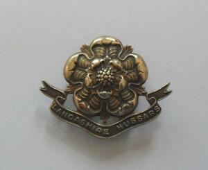 BRITISH ARMY CAP BADGE. THE LANCASHIRE ( YEOMANRY ) HUSSARS. ( 001. ).