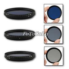 Fotga 72mm Slim Adjustable Color Fader ND Blue Lens Filter Light Reducing 72 mm