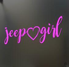Jeep girl heart sticker Funny race car window pink decal