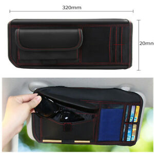Car Sun Visor Receive Bag Multi-Purpose Tools Organizer For IC Card Mobile Phone