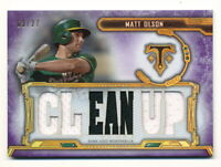 MATT OLSON 2020 TOPPS TRIPLE THREADS JERSEY RELIC #03/27 PURPLE AMETHYST CLEANUP