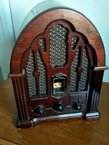 ANTIQUE REPLICA GE RADIO WOODEN VINTAGE RADIO