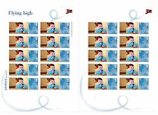 2005 FLYING HIGH  HELLO  personalized STAMPS GENERIC SMILERS COMPLETE  SHEET