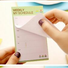 N Times Weekly Daily Schedule Memo Pad Sticky Notes School Office Bookmark