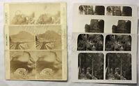 7 Doppelbilder Stereofotos Sächsische Schweiz um 1890 & um 1915 Sachsen xz
