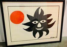 Alexander Calder Large Color Lithograph Framed Modern Artwork Signed