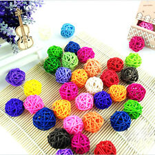 Rattan Colorful Pet Bird Claw Paw Chew Toys Parrot Ball Cage Parakeet Cage