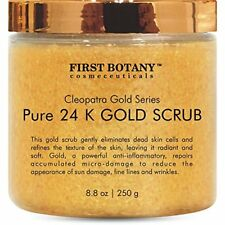 Pure 24K Gold Scrub Face Body Exfoliator Daily Moisturizer For All Skin 8.8oz