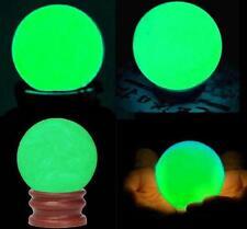 Delicate Glow In Dark Quartz Crystal Sphere Ball Luminous 3.5cm + BASE hot2017