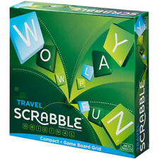 Mattel Games Travel Scrabble Compact Game NEW