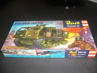 Vintage 1958 REVELL US Army M-4 HIGH SPEED TRACTOR TANK Model NEW in Box RARE!!