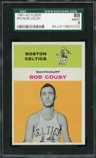 1961 Fleer BOB COUSY #10 Boston Celtics - SGC 88 / 8