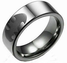 DC COMICS BATMAN ETCHED LOGO Stainless Steel BAND RING SIZE 11