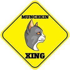 Yellow Aluminum Crossing Sign Munchkin Cat Xing Cross Diamond Street Signal