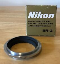 Nikon BR-2 Macro Adapter Ring For Bellows Focusing Attachment F Nikkor Japan