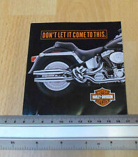 Harley Davidson Flyer.  Don't Let It Come To This Keep Your Muffler Closed
