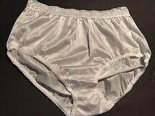 Vintage New White Nylon Wet Liquid Satin Sissy Bikini Panties